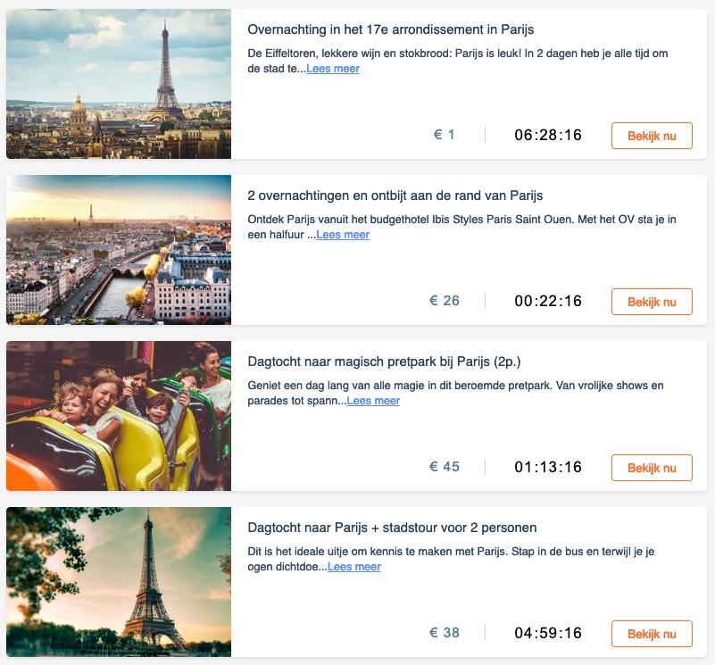 VakantieVeilingen Parijs