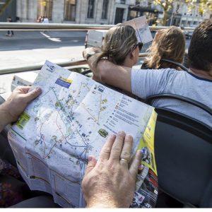 Kaart van alle bushaltes in Parijs