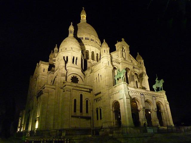 Sacre-Coeur 's nachts